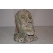 Small Easter Island Head Rock Decoration 13 x 11 x 16 cms