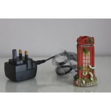 Aquarium Illuminated Small Telphone Box 5 x 5 x 9 cms Ornament