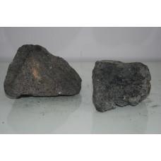 Natural Aquarium 2 x Medium Black Lava Rocks 6C