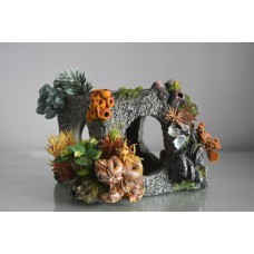 Aquarium Detailed Cube Coral Habitat Garden & Plants 15 x 14 x 11 cms