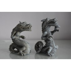 Aquarium Stunning Detailed Pair of Balinese Dragons