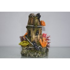 Aquarium Stunning Detailed Large Coral Basket Rocks Decoration 12 x 12 x 19 cms