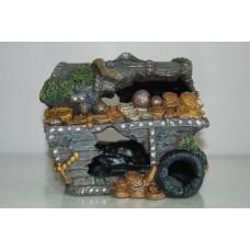 Aquarium Sunken Treasure Chest Extra Large 26 x 19 x 24 cms