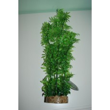 Large Aquarium Green Plant Sandstone Base With Airstone 8 x 40 cms