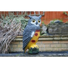 Large Realistic Garden Owl Decoy For All Garden Ponds 40 x 17 x 13 cms