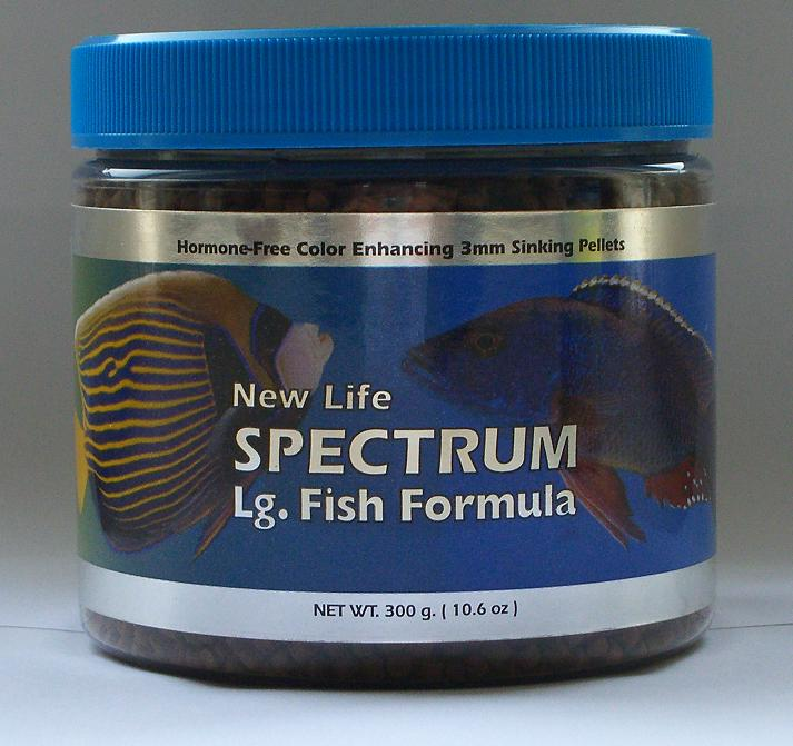 New life spectrum large fish formula 3mm pellets for New life spectrum fish food